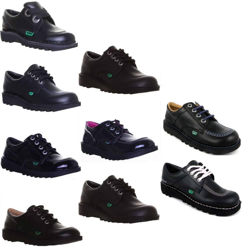 Kickers Kick Low Men Back to School Leder Schuhe Damen Stiefel