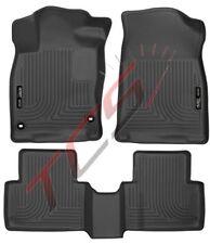 Husky Black Weatherbeater Front & Rear Back Floor Liners 2016 Honda Civic Sedan