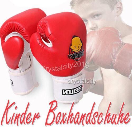 5-10 Jahre Kinder Boxhandschuhe Boxing Gloves Kickboxen Sandsack Handschuhe 4oz