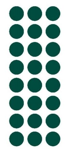 """DARK GREEN 1/"""" Round Stickers Color Code Inventory Label Dot Package Seals"""