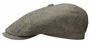41cd1fe0506 Stetson 150 th Bakerboy Cap Hat BROOKLIN 331 Gray Black Heritage New ...