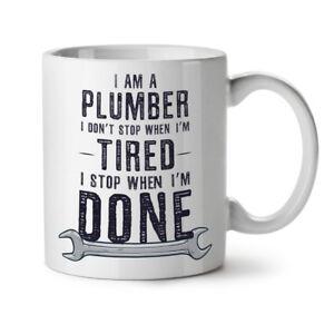 Plumber Stop NEW White Tea Coffee Mug 11 oz | Wellcoda