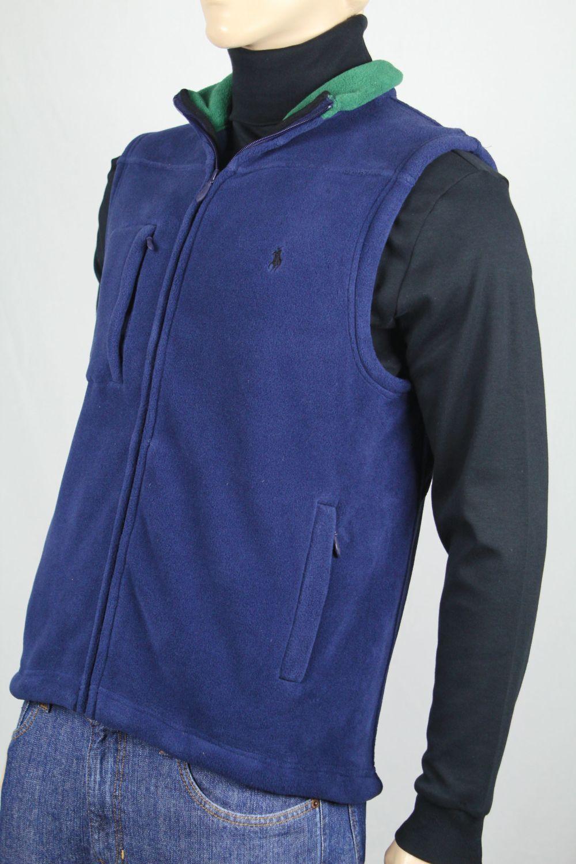 POLO Ralph Lauren Navy bluee Fleece Vest Navy bluee Pony NWT