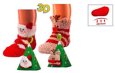 2 Paar Kuschel-Söckchen 3D mit rutschsicherem ABS-Druck für Kinder CH-179