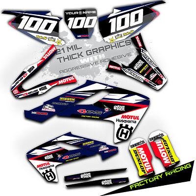 2016 2017 2018 Husqvarna TC 65 MOTOCROSS TEAM GRAPHICS KIT RACE  DECAL