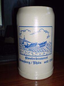 Ancienne grande chope de bière Klosterbrauerei en grès capacité 1L - France - État : Occasion: Objet ayant été utilisé. Consulter la description du vendeur pour avoir plus de détails sur les éventuelles imperfections. ... Type: Chope - France