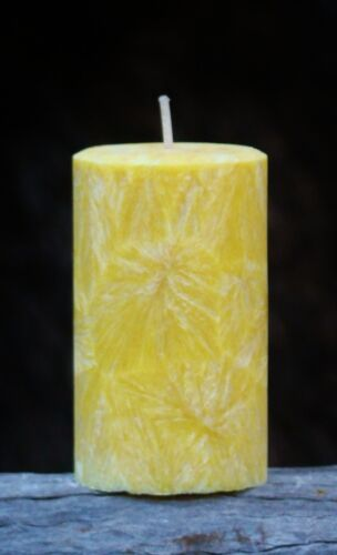 40hr KAFFIR LIME /& COCOA BUTTER Energising Scent Pillar CANDLE with Cotton Wick