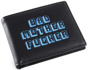Schwarz-und-blau-bestickt-BMF-Bad-MOTHER-FU-er-Pulp-Fiction-Leder-Portemonnaie