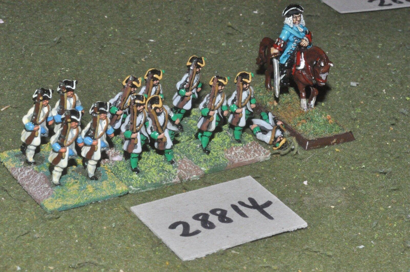 25mm marlburian   dutch - regt. 12 figures - inf (28814)