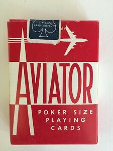 Vintage-Aviator-Poker-Size-Playing-Cards-RED-Deck-NEW-amp-Sealed-Airplane-Ohio-USA