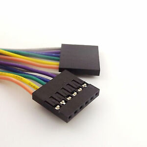 10x-6Pin-header-female-to-female-Dupont-Wire-Color-Jumper-cable-pour-Arduino-30-cm