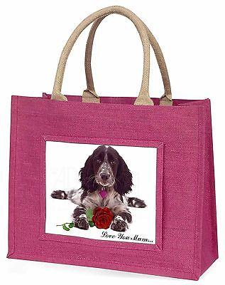 Cocker+Rose 'Liebe, die Sie Mama' Große Rosa Einkaufstasche Weihnachten Vor,