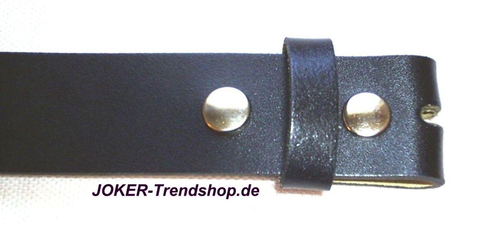 Ledergürtel schwarz Wechselgürtel 80 - 130 cm Gürtel Übergröße Lether Belt