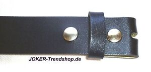 Lederguertel-schwarz-Wechselguertel-80-140-cm-Guertel-Ubergroesse-Lether-Belt