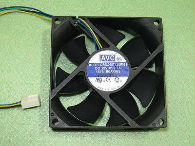 AVC DS08025R12U 8025 80mm x25mm Fan 12V 4Pin 0.70A PWM 3Pin Compatible 601