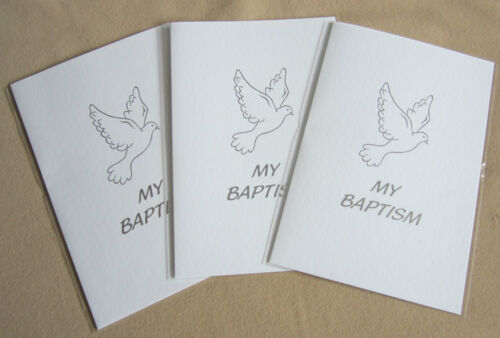 3 My Baptism Certificates Silver foiled Gift Card EB187