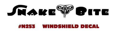 SNAKE BITE WINDSHIELD DECAL GET YOUR SNAKE ON !! COLORS N253 FORD