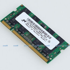 micron 2gb pc2 6400 ddr2 800 800mhz 200pin ddr2 laptop