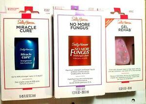 Sally Hansen Nail Care Pack No More Fungus Gel Rehab Miracle Cure 74170453188 Ebay