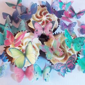 20x 3 5cm Schmetterlinge Lebendige Farben Essbar Kuchen Deko