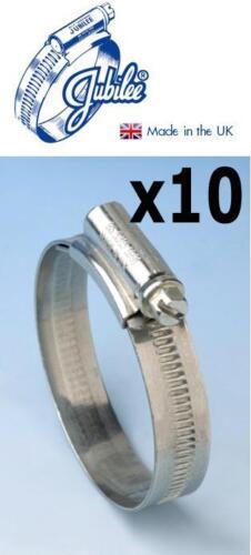 Genuine Jubilee Clips Size 2 40-55mm Box Of 10 Hose Clip Mild Steel 2MS