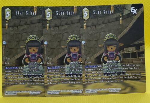 Final Fantasy TCG FFTCG Star Sibyl Full Art Promo x3