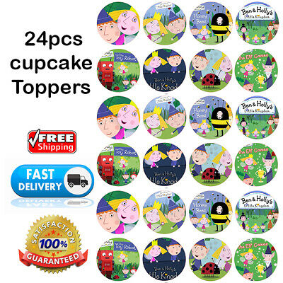 24 Ben and holly's little Kingdom EDIBLE CUPCAKE TOPPER ...