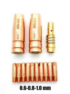 pacco da 10 Saldatura Mig Punte Di Contatto - MB15 M6 - 0.8mm