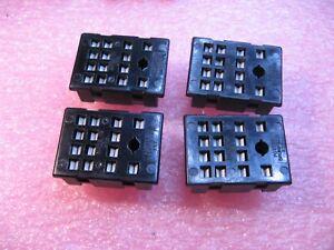 Potter-amp-Brumfield-Tyco-4PDT-Relay-Socket-Base-NOS-Qty-4