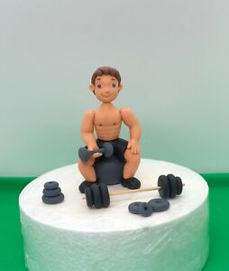 Awesome Edible Cake Toppers Gym Weight Dumbbell Fitness Dad Man Hobby Personalised Birthday Cards Xaembasilily Jamesorg