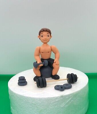 Prime Edible Cake Toppers Gym Weight Dumbbell Fitness Dad Man Hobby Birthday Cards Printable Benkemecafe Filternl