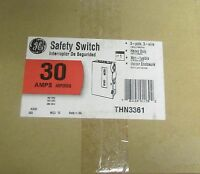 NEW GE THN3361 30 AMP 600V HEAVY DUTY SAFETY NEMA 1 DISCONNECT SWITCH Building Supplies
