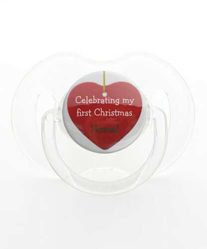 Celebrating My First Christmas Home Baby Pacifier