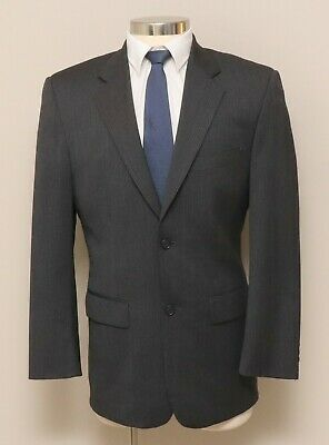 Clothing, Shoes & Accessories Mens 38r Alfani Grey And Black Stripe Wool Blend Blazer Good Companions For Children As Well As Adults Suits & Suit Separates