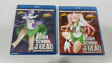 HIGH SCHOOL OF THE DEAD VOL 2 + VOL 3 COMBO 2 BLU-RAY + 2 DVD MANGA SIN CENSURA