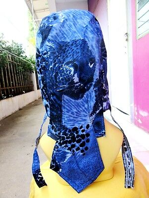 large SKULL FACE BANDANA mens womens head wrap #1013 neck cover BIKER STYLE NEW