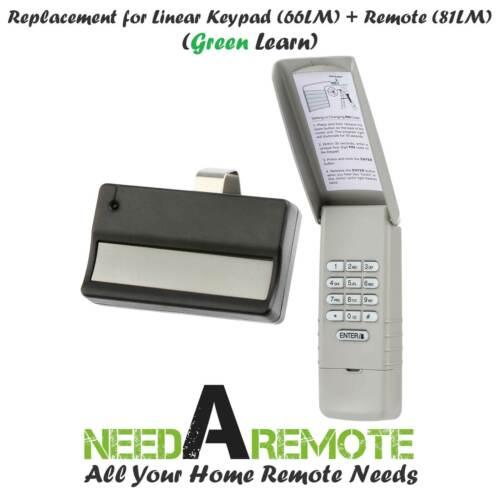 For 66LM Liftmaster Garage Door Keypad Keyless Entry Green Learn Visor 81LM