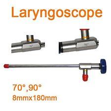 2017Sale CE Endoscope ø8x180mm Laryngoscope laryngeal mirror laryngendoscope 70°