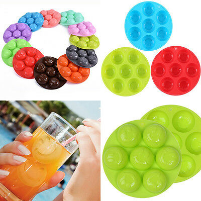 DIY Whiskey Silicone Smile Face Ice Cube Ball Maker Mold Sphere Mould Brick Tray