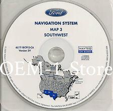 2003 LINCOLN NAVIGATOR NAVIGATION MAP DISC CD 3 SW SOUTHWEST AZ NM TX VERSION 3V