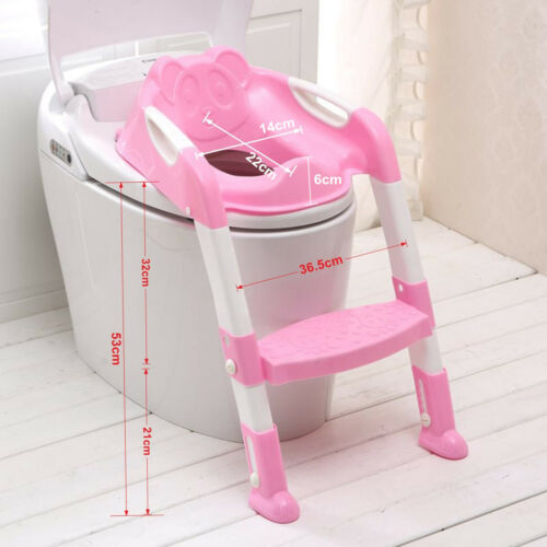 NEW Safe PP Toddler Potty Training Toilet Seat/&Step Ladder Child Kids Fun Loo