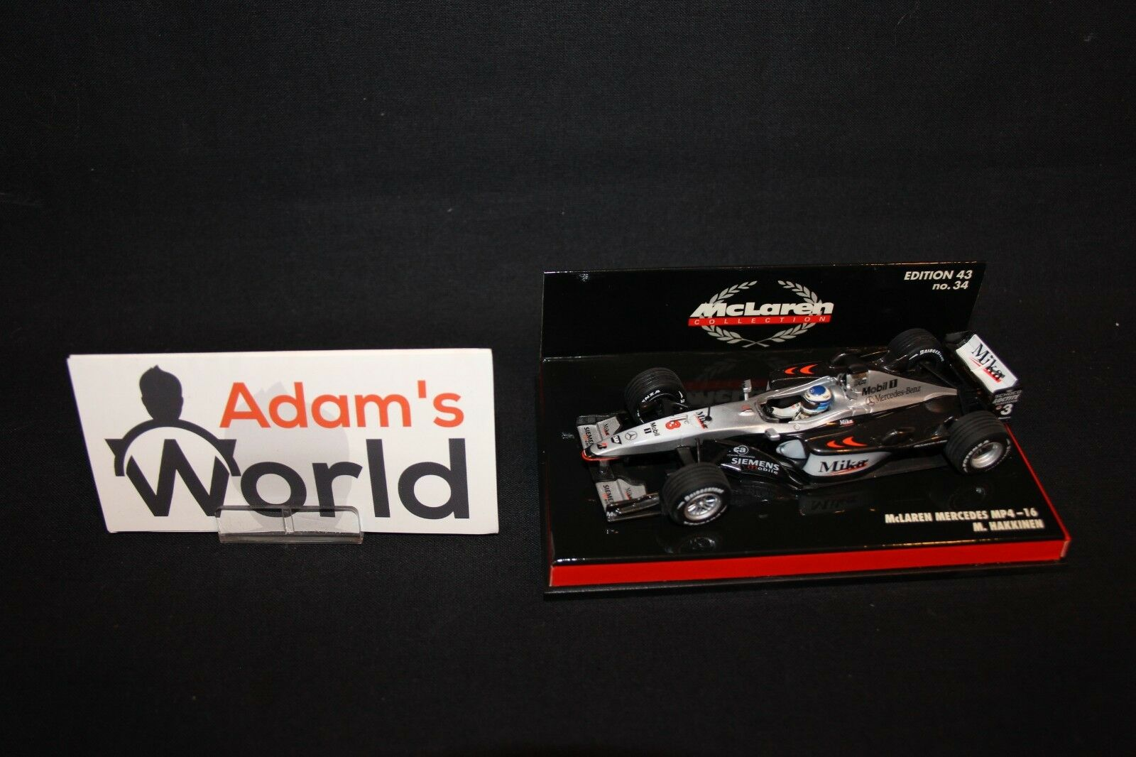 Minichamps McLaren Mercedes MP4 16 2001 1 43  3 Mika Hakkinen (FIN) (MM1)