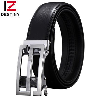 Men/'s Adjustable Leather Ratchet Dress Belt With Automatic Buckle Belt for Jeans