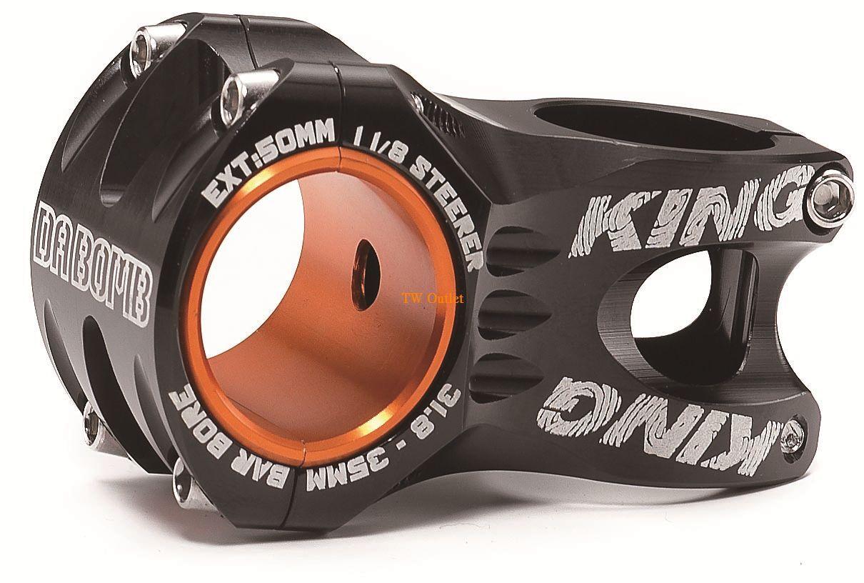 New In Box DA BOMB  KING  MTB AM FR 1-1 8  50mm STEM,Bar 35mm 31.8mm,Bk blueee Grn
