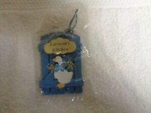 Lorraine-039-s-Kitchen-Blue-Wood-amp-White-Goose-RUSS-Refrigerator-Magnets
