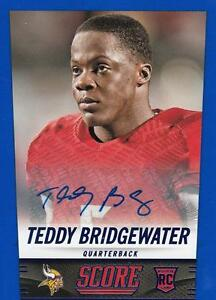 2014-Score-Rookie-Signatures-Blue-426-Teddy-Bridgewater-Vikings