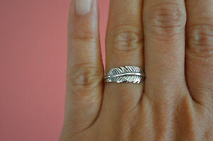 925-Sterling-Silver-Feather-Ring-Band-Feather-Wrap-Ring