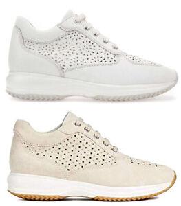 GEOX-HAPPY-D5262A-scarpe-donna-pelle-camoscio-sneakers-casual-interactive-zeppa