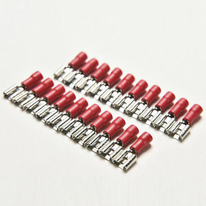 20x 16 22awg femelle connecteurs lectriques cosse sertir borne lectrique bb ebay. Black Bedroom Furniture Sets. Home Design Ideas
