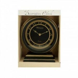 Kole-Decorative-Black-amp-Gold-Mantle-Clock
